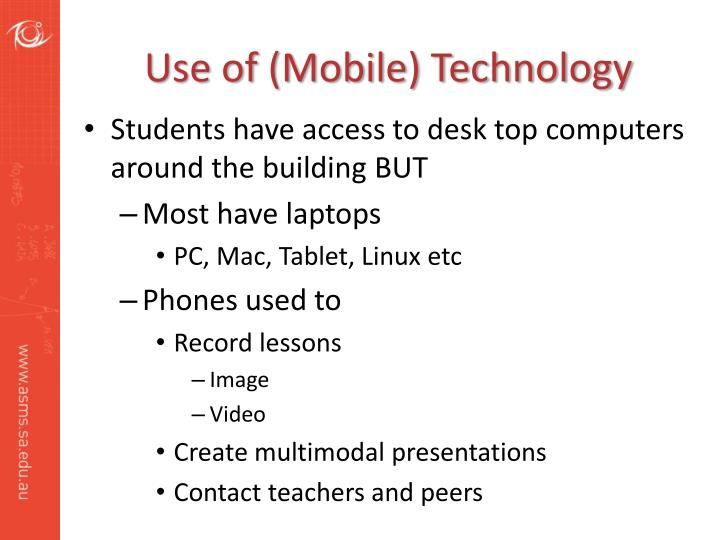 Use of (Mobile) Technology