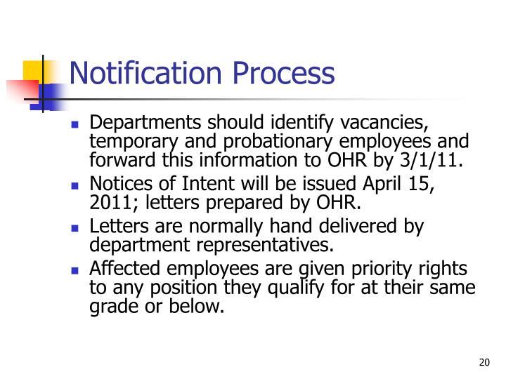 Notification Process