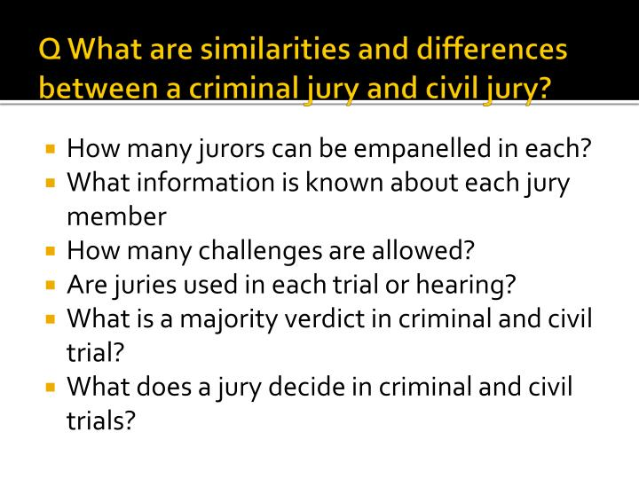 differences and purposes of criminal andcivil The difference between restitution and civil collection also depends on enforcement of the court's order of restitution, either by the criminal justice system or.