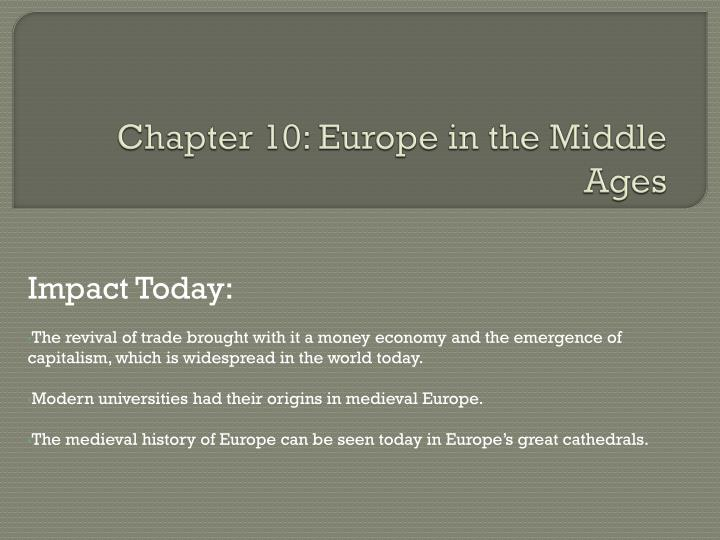 chapter 10 europe in the middle ages n.