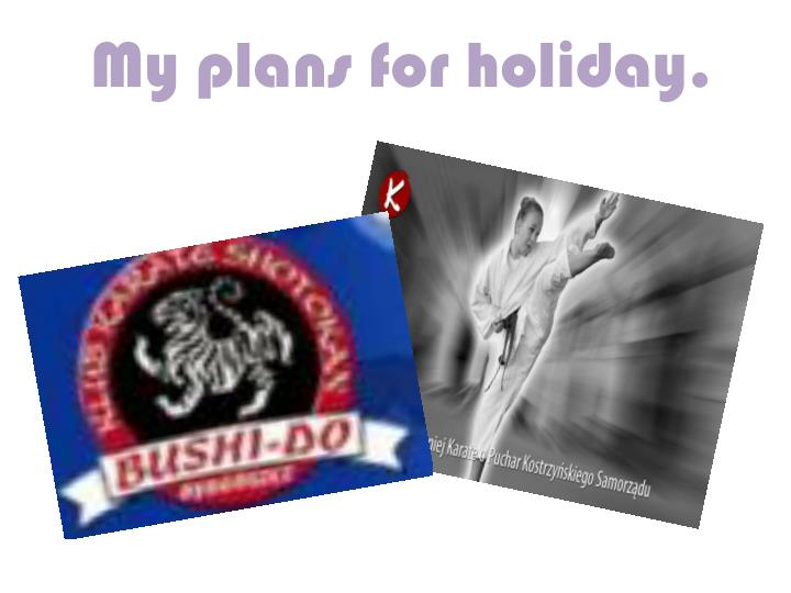 my plans for holiday n.