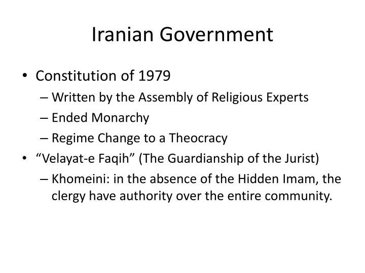 info about irans constitution