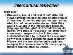 intercultural reflection