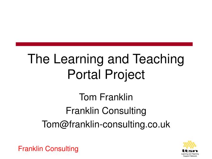 the learning and teaching portal project n.