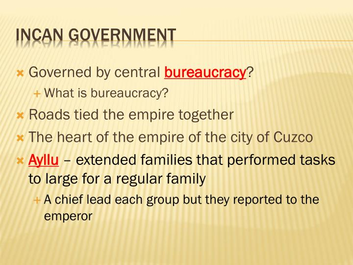 Governed by central