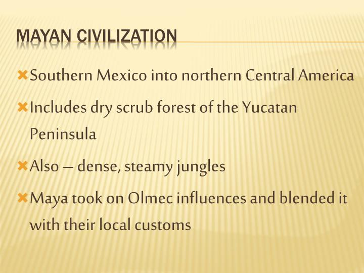Southern Mexico into northern Central America