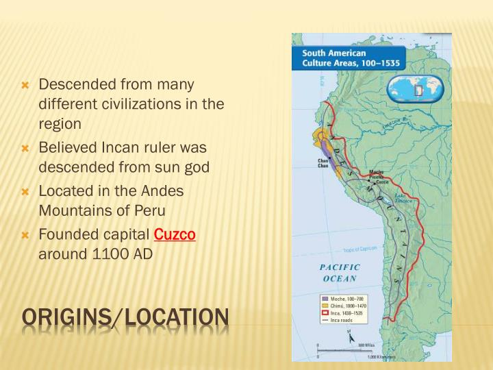 Descended from many different civilizations in the region