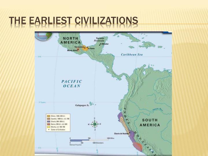 The earliest civilizations
