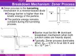 breakdown mechanism zener process