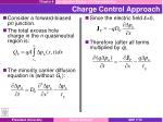 charge control approach