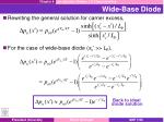 wide base diode