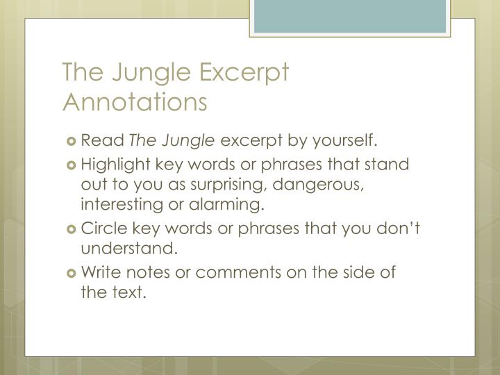 the jungle excerpt annotations n.