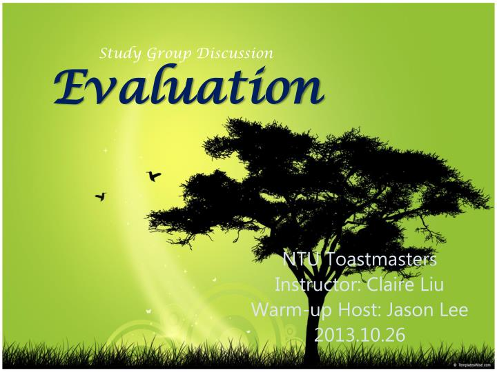 study group discussion evaluation n.