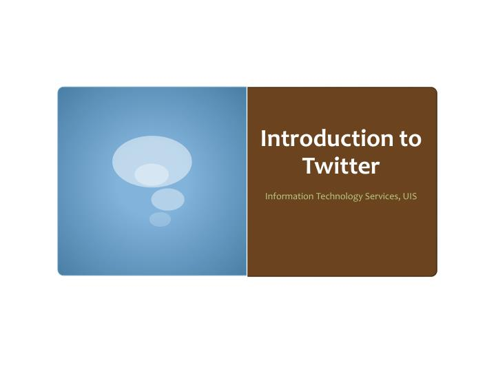 introduction to twitter n.