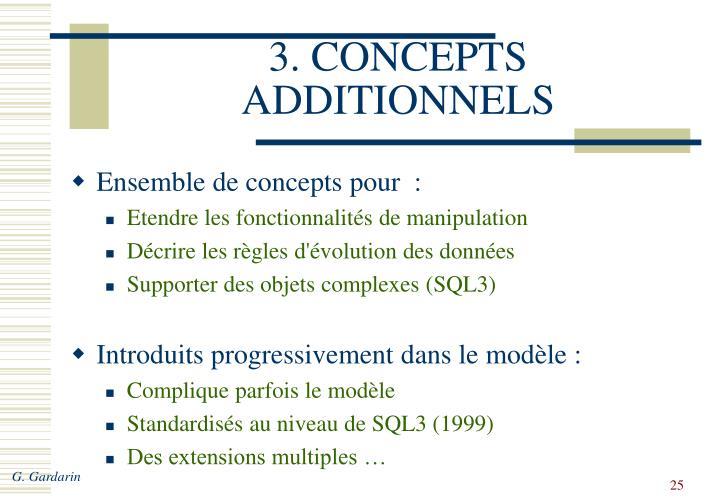3. CONCEPTS ADDITIONNELS
