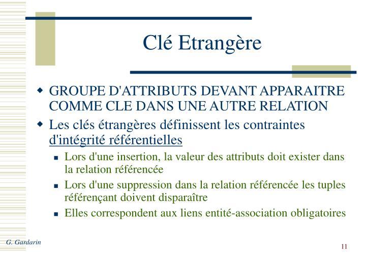 Clé Etrangère