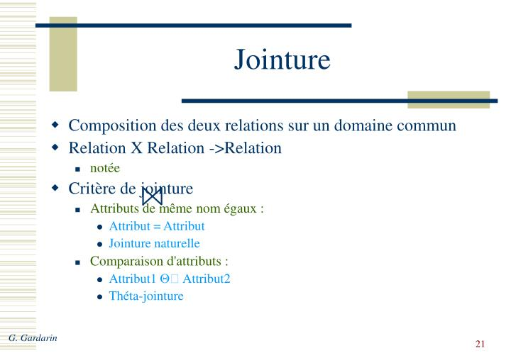 Jointure