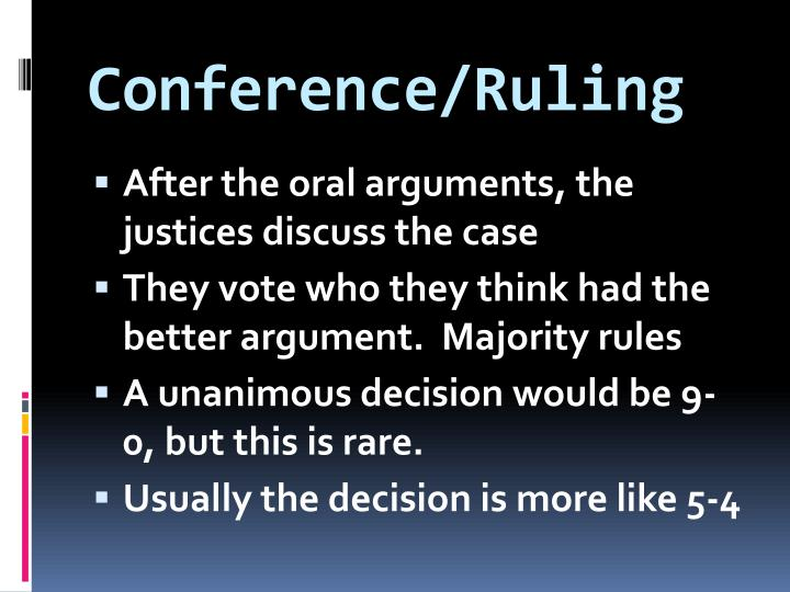 Conference/Ruling