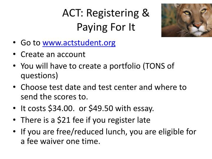 ACT: Registering &