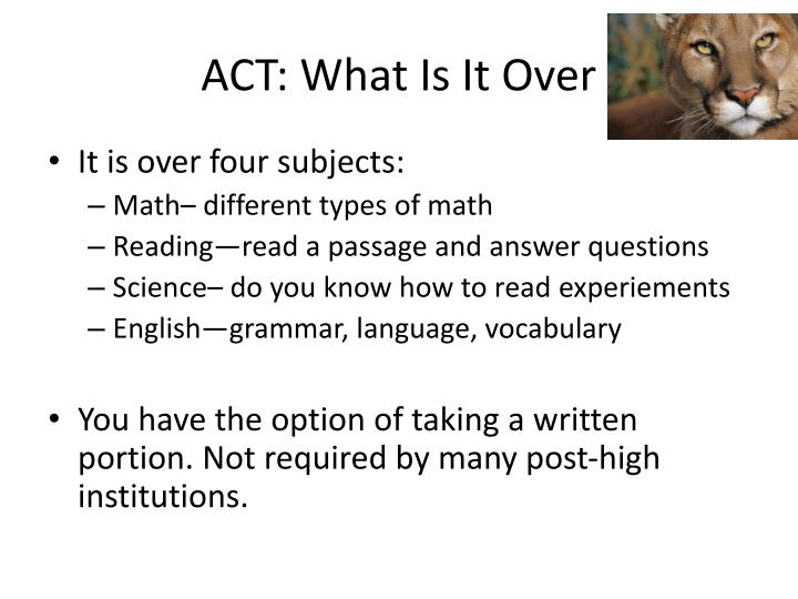 ACT: What Is It Over
