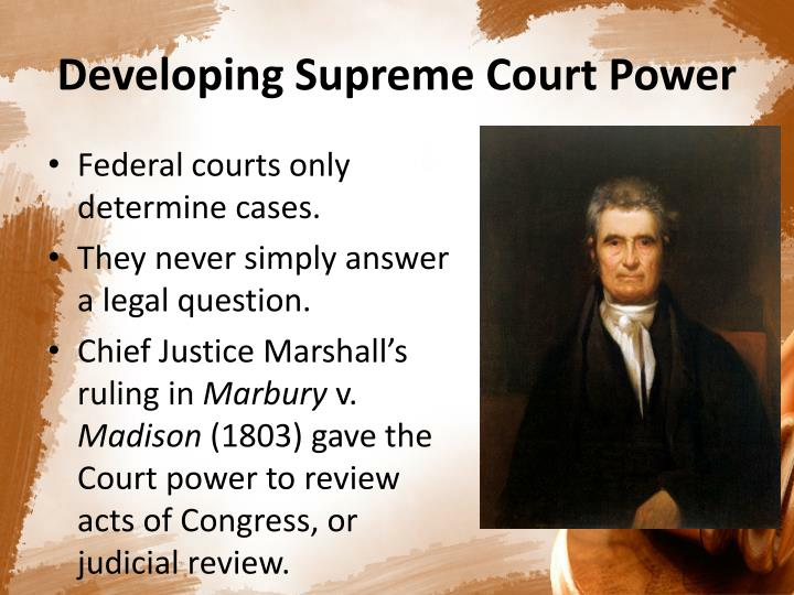 an analysis of the chapter one and the federal judicial power Overview recently decided cases sources of law and interpretation case   article iii, section 2, of the constitution distributes the federal judicial power  and  treaties of the united states unless they strictly conformed to one of the state  of  federal courts , 6th edition (st paul, mn: west group, 2002), chapter 13.