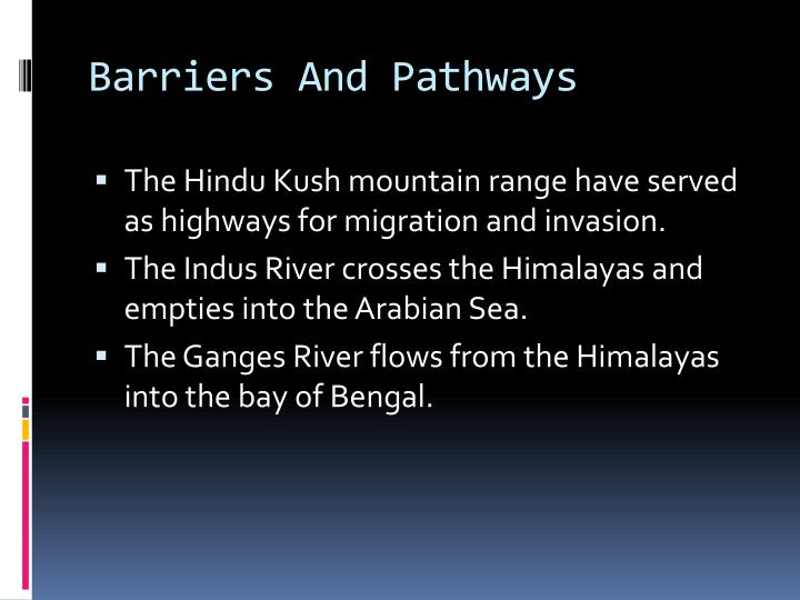 Barriers And Pathways