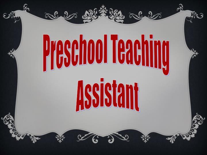 Preschool Teaching