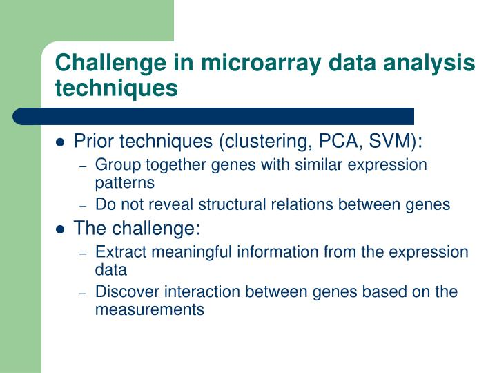 Challenge in microarray data analysis techniques