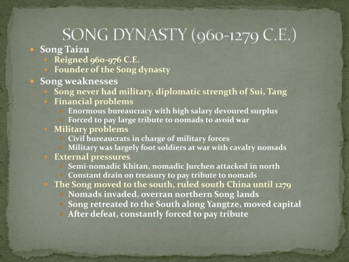 SONG DYNASTY (960-1279 C.E.)