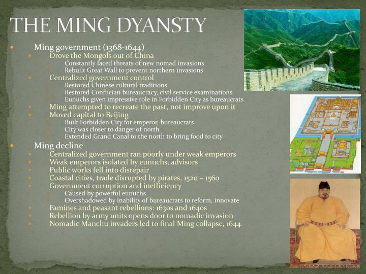 THE MING DYANSTY