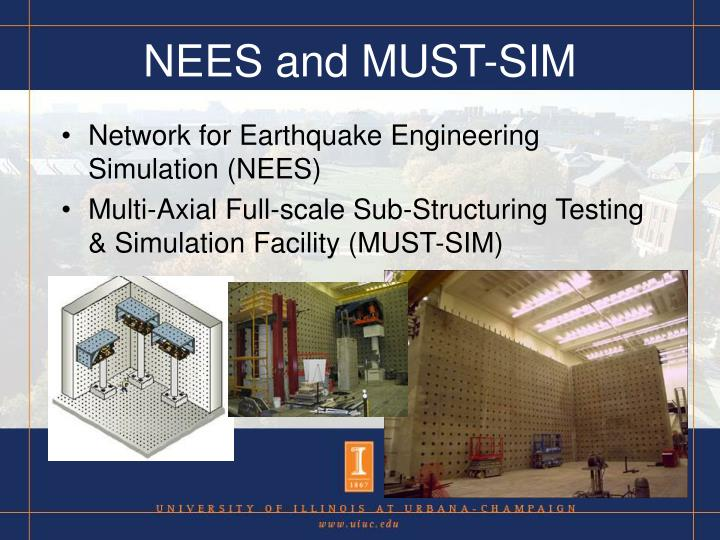 NEES and MUST-SIM