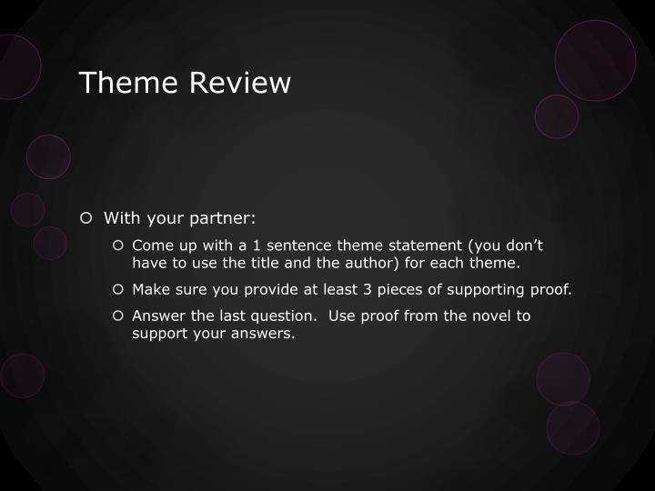 Theme review