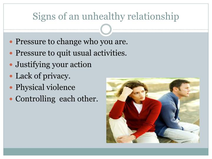 Signs of an unhealthy relationship