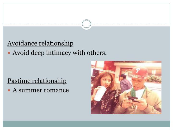 Avoidance relationship