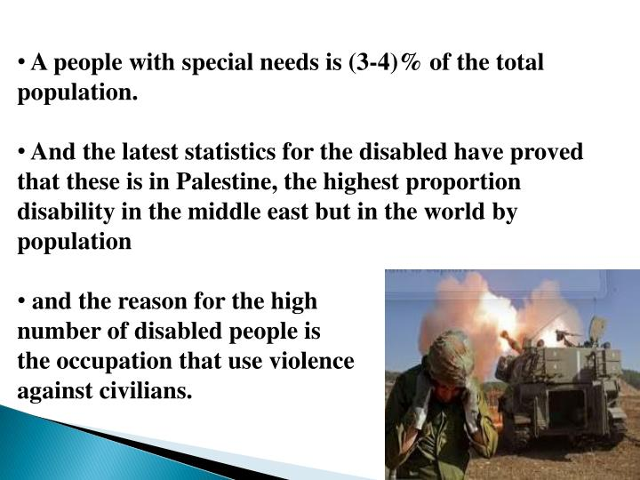 A people with special needs is (3-4)% of the total population.