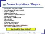 famous acquisitions mergers
