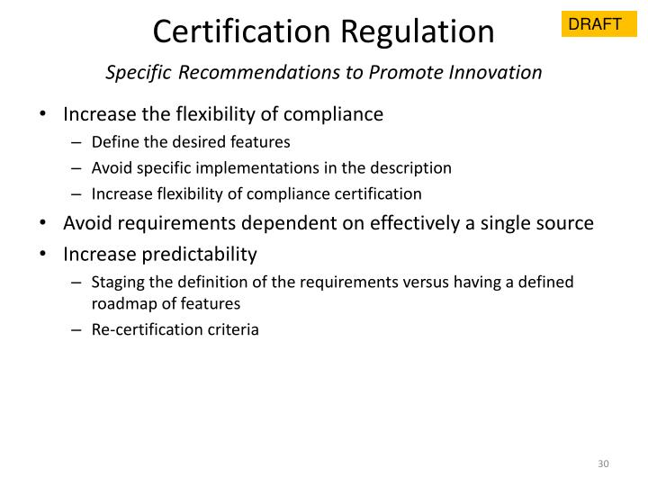 Certification Regulation