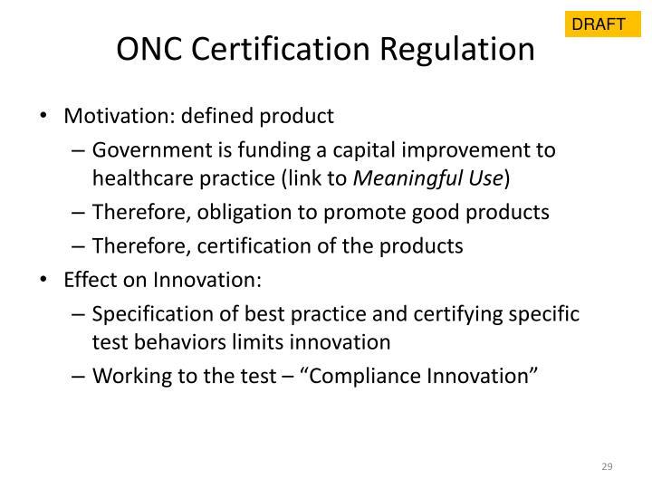 ONC Certification Regulation