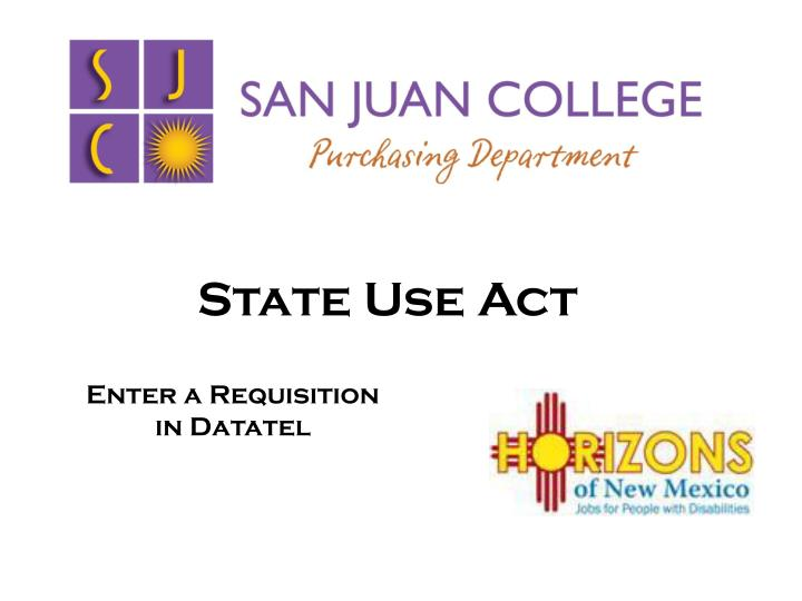 state use act n.