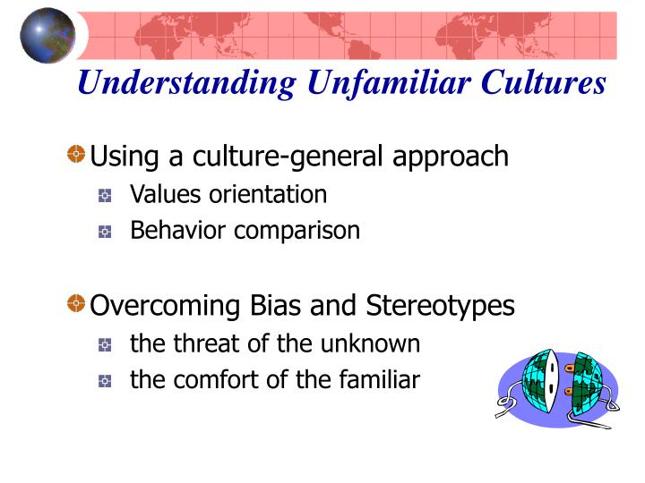 an analysis of the understanding of what culture is all about International marketing and culture culture includes all that we have learned in relation to values and norms and uses eight categories in its analysis.