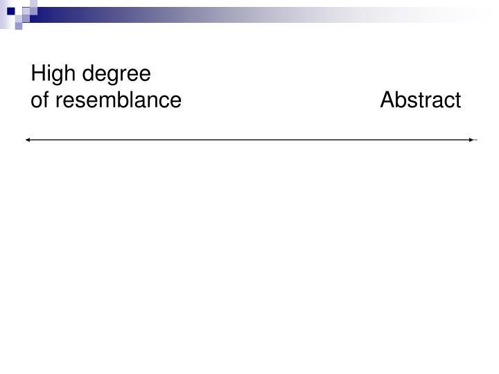 High degree