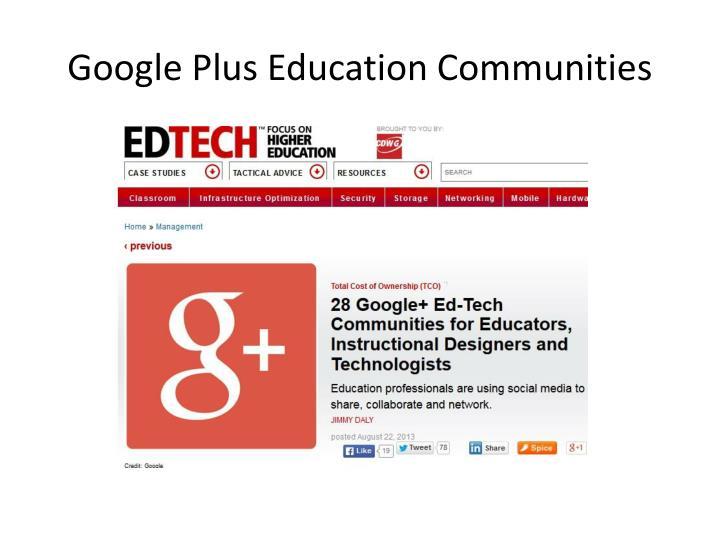 Google Plus Education Communities