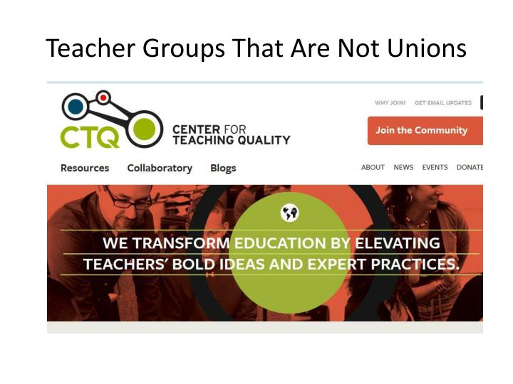 Teacher Groups That Are Not Unions