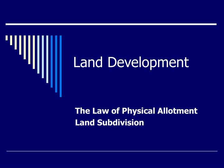 land development n.