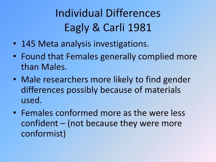Individual Differences
