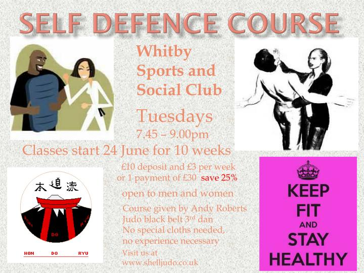 self defence course n.