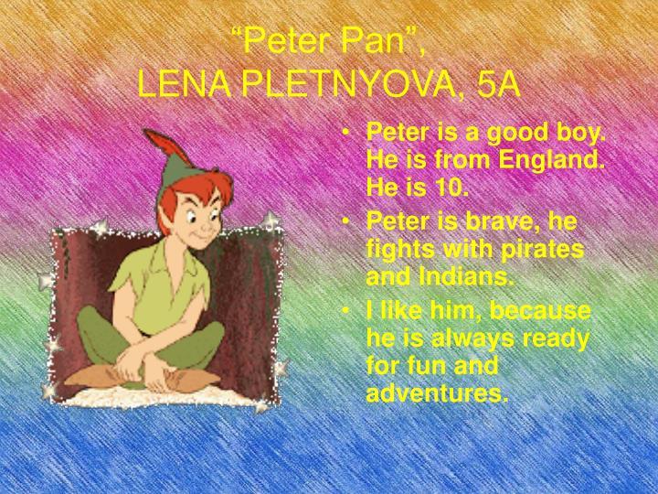 """""""Peter Pan"""","""