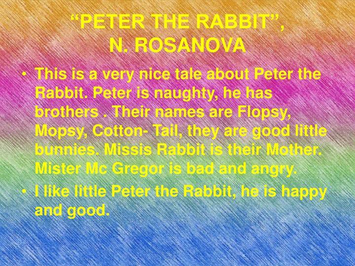 """PETER THE RABBIT"","