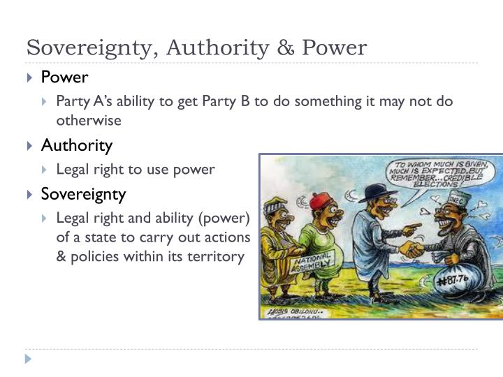 two different concepts of power and authority Indeed, different principles grounding authority may be suitable to different kinds of authority one thing that is not often enough discussed in treatments of political authority is the fact that there are very different kinds of political authority.