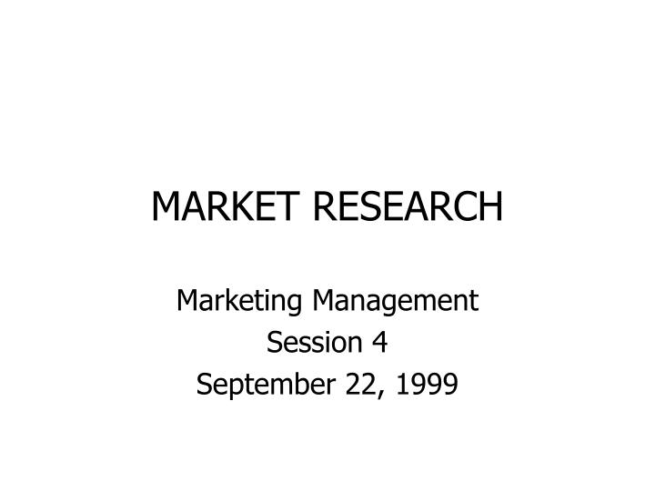 market research n.